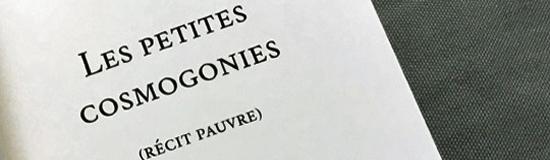 [Chronique] Christine Jeanney, Les Petites Cosmogonies, par Ahmed Slama